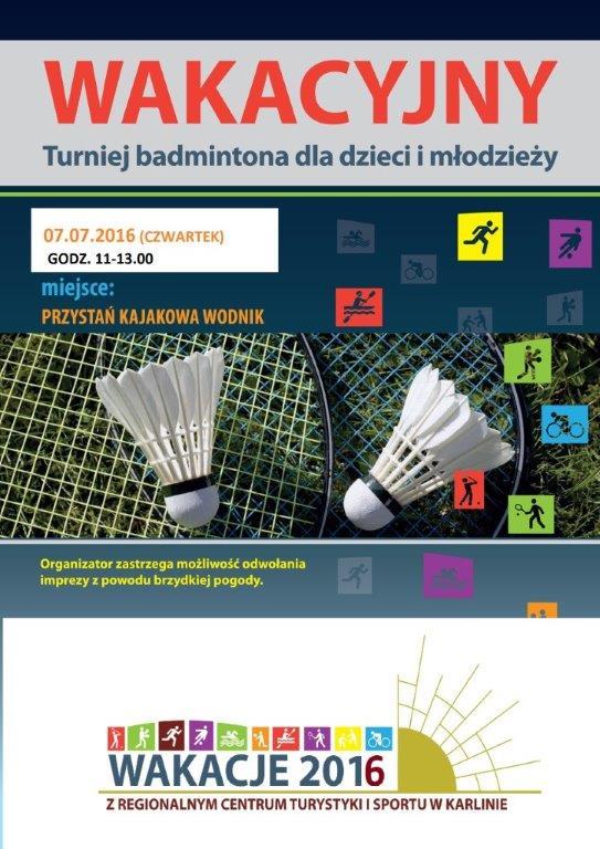 plakat badminton 7.7