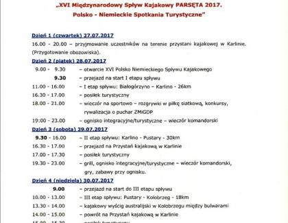 28-07-2017 XVI MSK Obozowisko, odprawa, wyjazd do Białogórzyna, lądowania z I etapu, konkursy kajakowe.