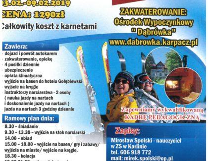 Klub Sportowy SPEED – Mirek Spolski zaprasza na obóz w Karpaczu